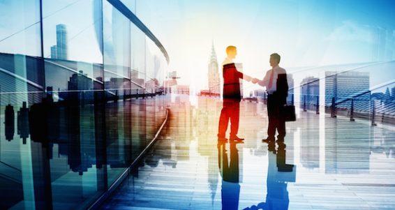 Business People Hand Shake Partnership Teamwork Deal Cooperation