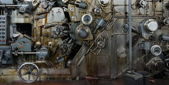 Detail Of A Rusted Machine