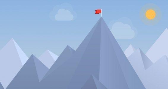 Flag On The Peak Illustration