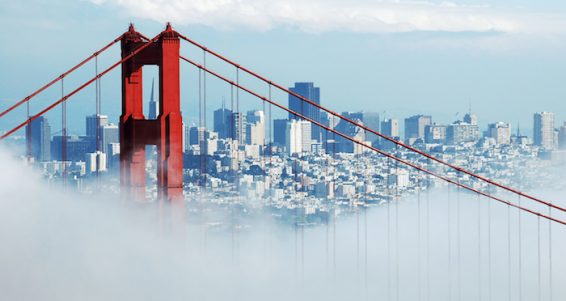 Golden Gate Bridge, San Francisco Under Fog