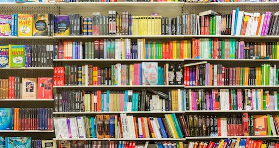 International Books On Library Shelf