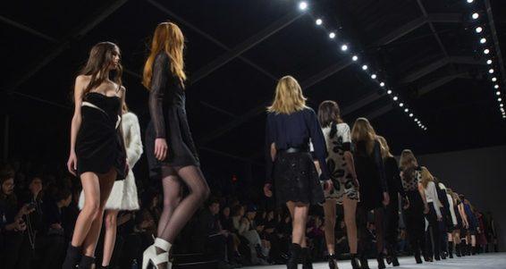 NEW YORK-FEB 8: Models walks the runway at the Jill Stuart fashion show during Mercedes-Benz Fashion