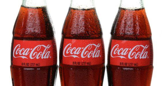 Three Bottles Of Coca-cola
