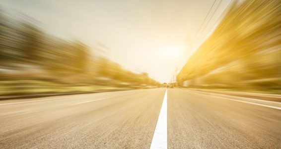 motion blur of the road