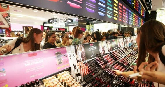 SYDNEY, AUSTRALIA - DECEMBER 05:  Shoppers attend the opening of Sydney's first Sephora store at Westfield Pitt Street Mall on December 5, 2014 in Sydney, Australia. This is the first Sephora store to open in Australia.  (Photo by Mark Metcalfe/Getty Images)