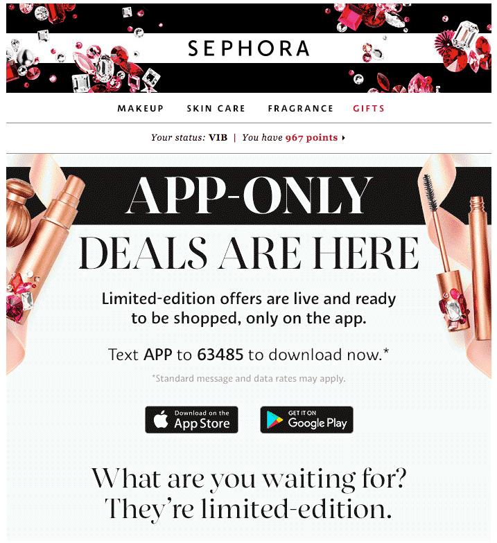 sephora-email-marketing-black-friday