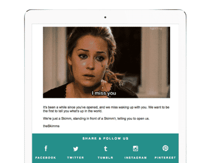 theSkimm reducing churn with re-engagement