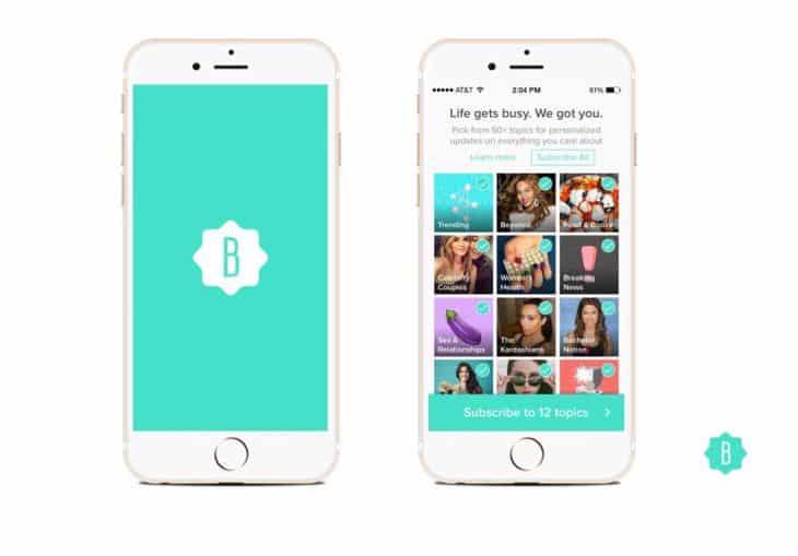 Bustle mobile app
