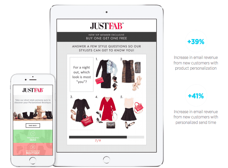 How JustFab increases puchase rate rates