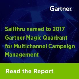 Sailthru named to 2017 Gartner Magic Quadrant