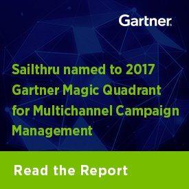 Sailthru named to 2017 Gartner Magic Quadrant