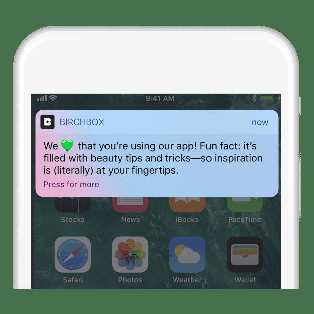 Birchbox push notifications