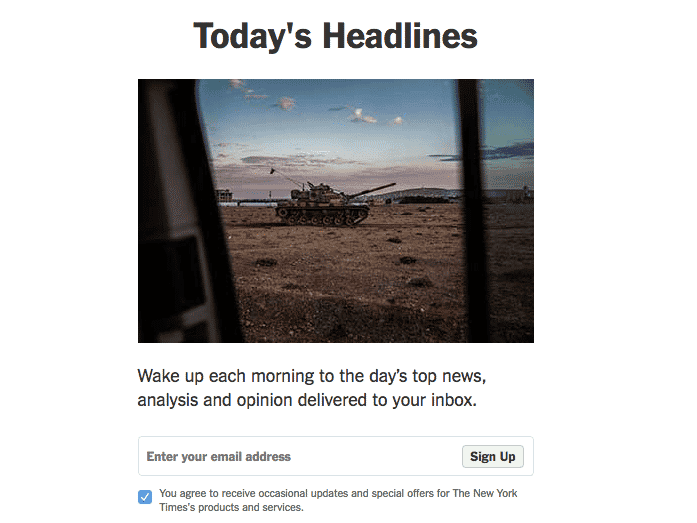 new york times email newsletter