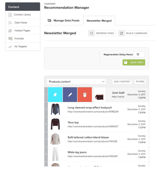 Recommendation Manager