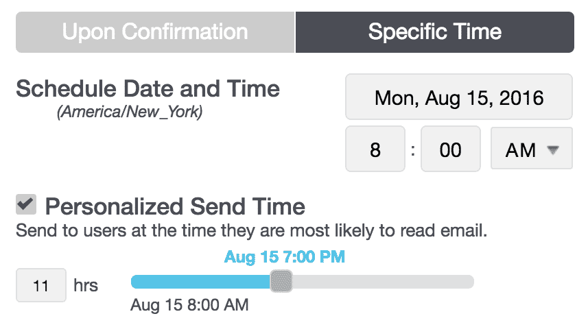 Personalized send time