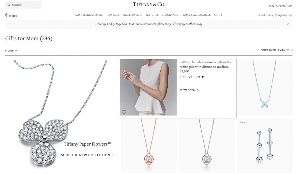 Tiffany & Co. - Mother's Day gift guide