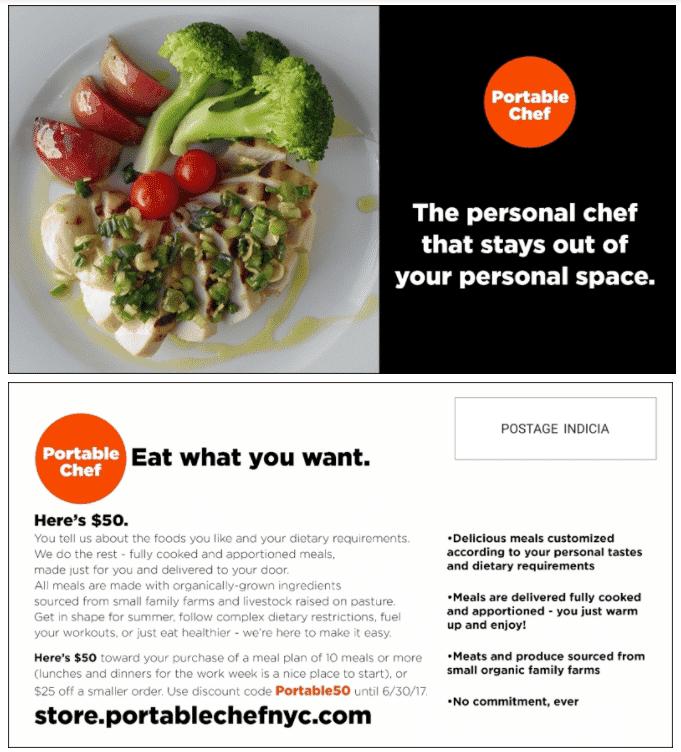 Portable Chef postcard