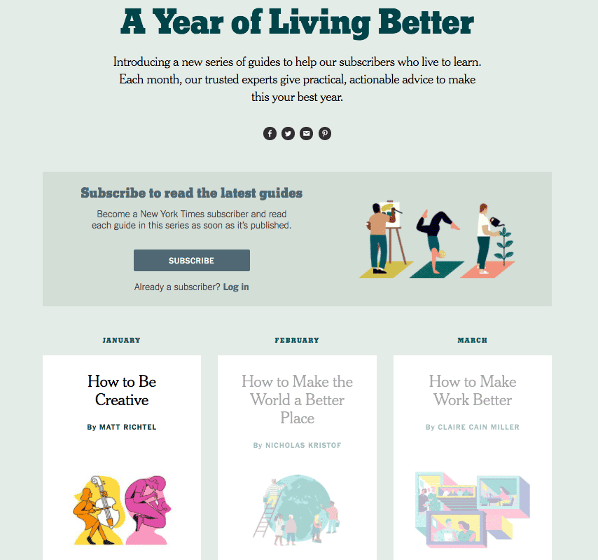 New York Times - A Year of Living Better