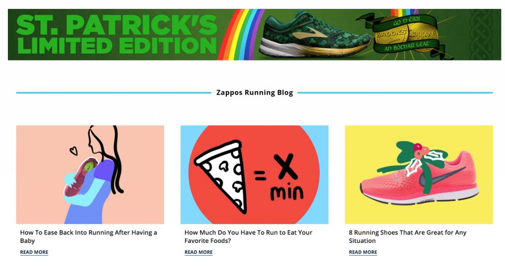 zappos running blog