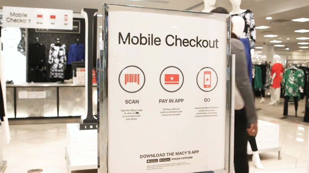 Macy's mobile checkout