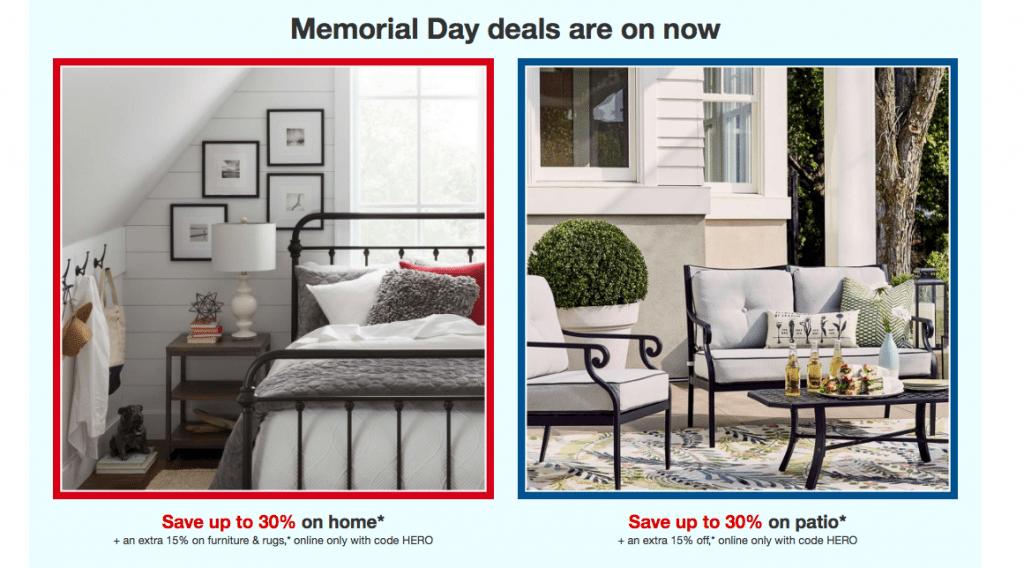 Target Memorial Day sale