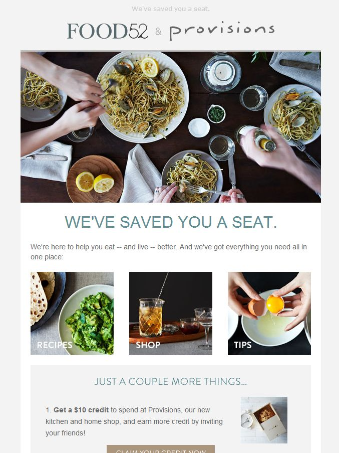 Food52 - email