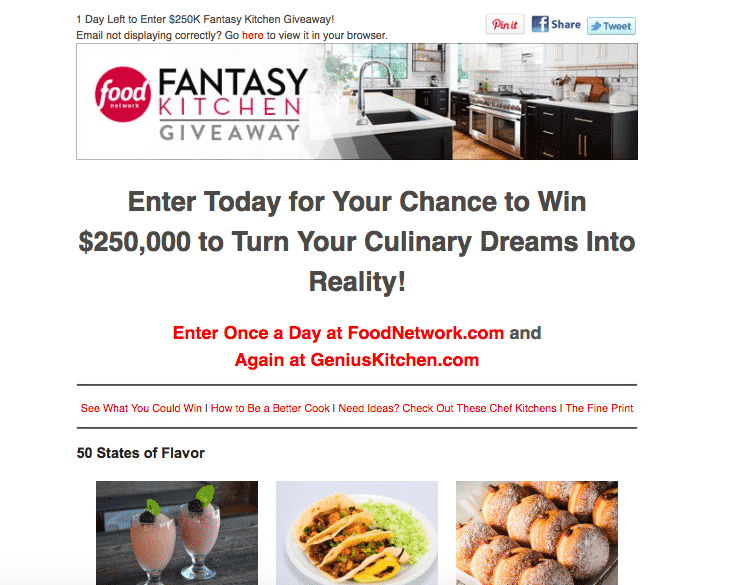 Food Network email