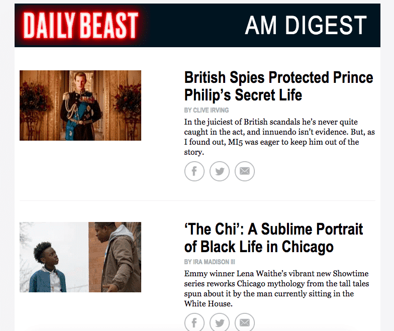 Daily Beast email