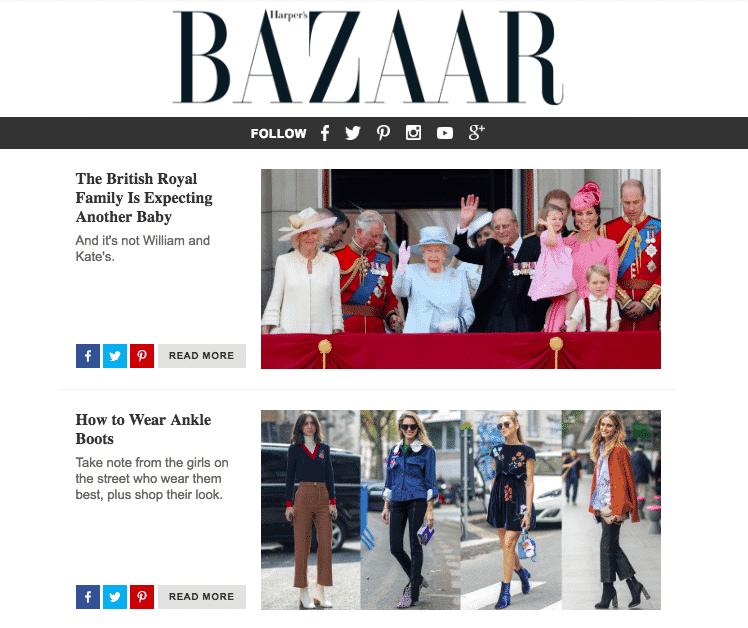 Harper's Bazaar email
