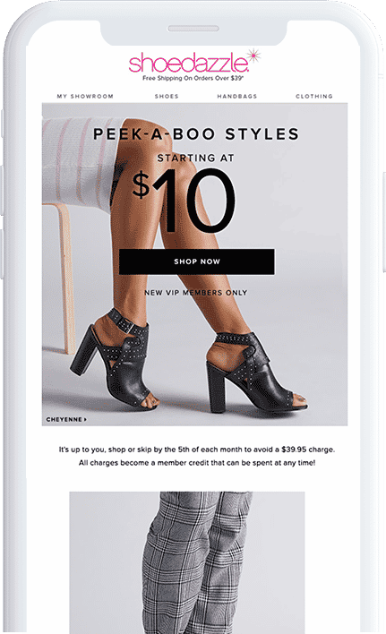 ShoeDazzle - Email recommendations