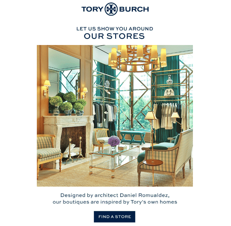 Tory Burch email