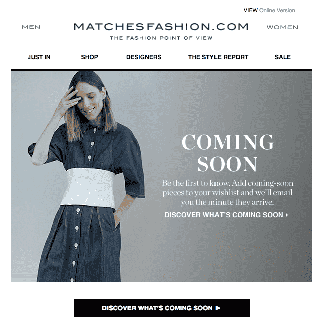 Product recommendations- MATCHESFASHION.COM