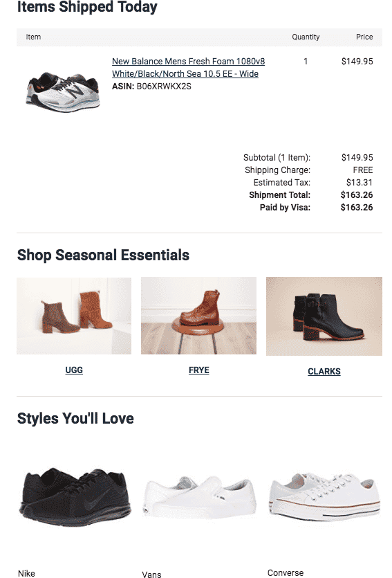 Product Recommendations - Zappos