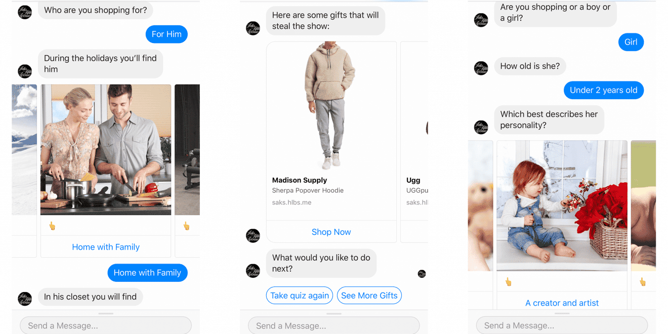 Saks- chatbot gift guide