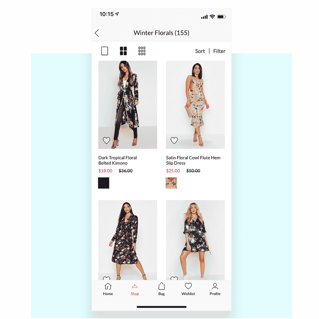 Well-outfitted mobile app