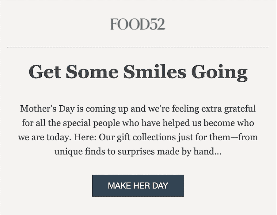 favorite Mother's Day emails