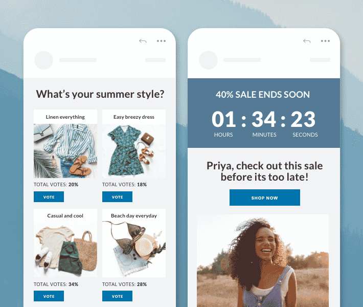 Drive live product recommendations across channels