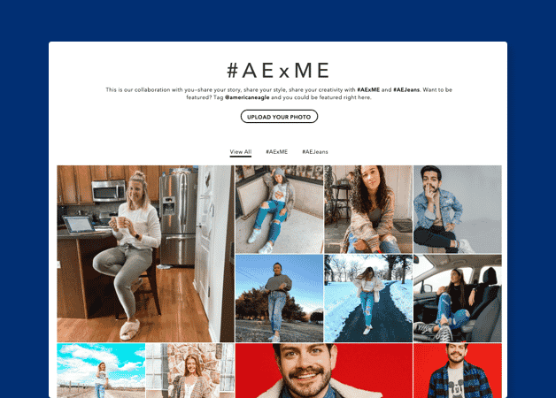 American Eagle Outfitters social media content