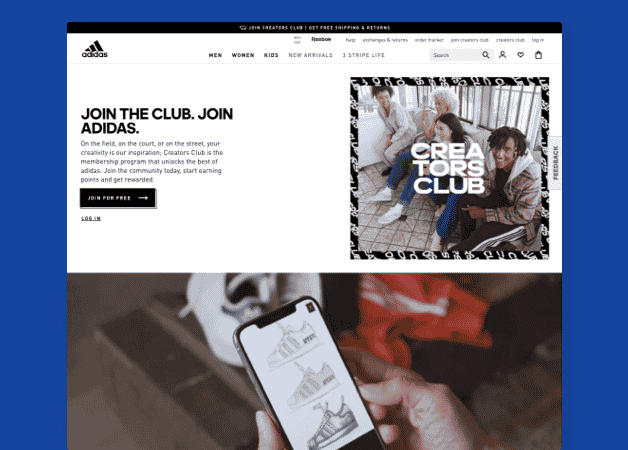adidas join the club email
