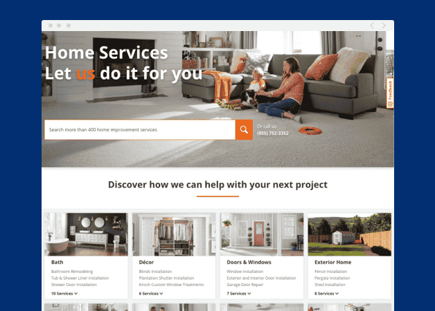 home depot services