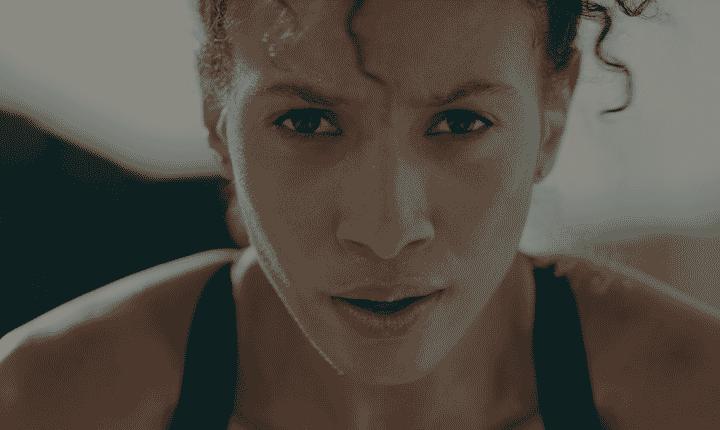 female athlete closeup