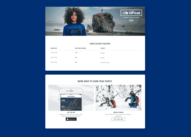 north face loyalty program example.