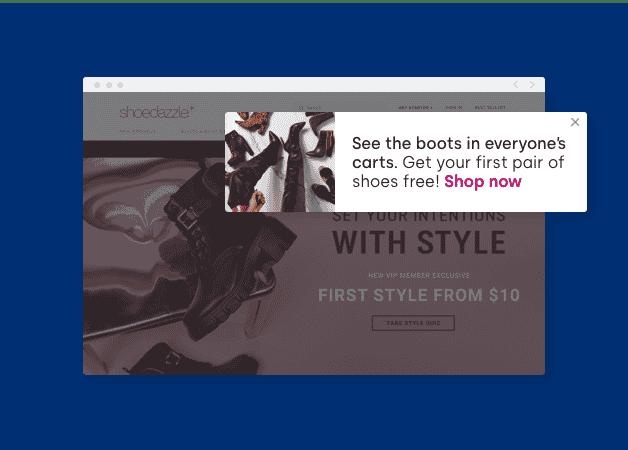 website browser messaging example