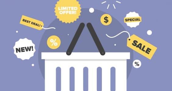 Discount Sales Flat Icon Illustration