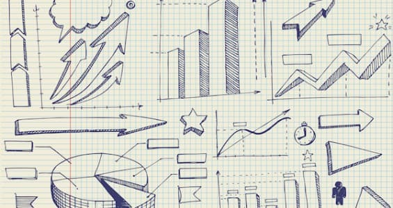 set of doodles. graphics and diagrams